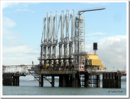 North Sea Oil Terminal in the Firth of Forth.