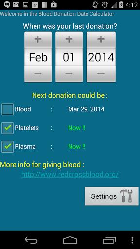 献血提醒 - Blood Donation Reminder