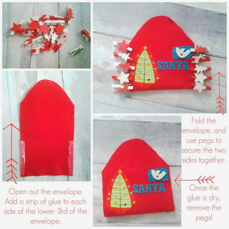 DIY felt envelope glued closed