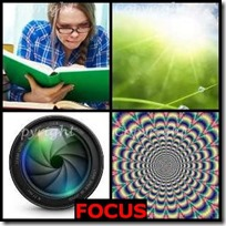 FOCUS- 4 Pics 1 Word Answers 3 Letters