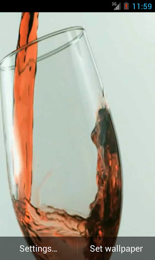 A glass of wine Live Wallpaper