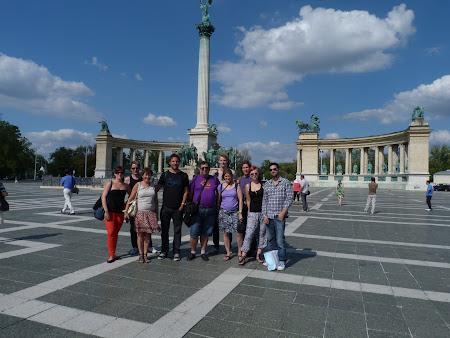Obiective turistice Ungaria: Piata Eroilor Budapesta