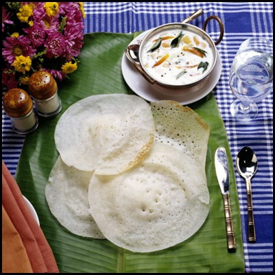 Breakfast Appams and Chatni