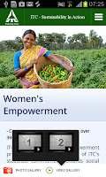 Screenshot of ITC Sustainability