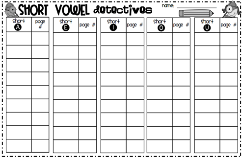 Number Names Worksheets short vowel sound worksheets for first grade : Made for 1st Grade: Short Vowel Activities