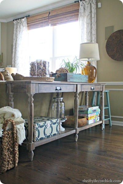 world market sofa table gray
