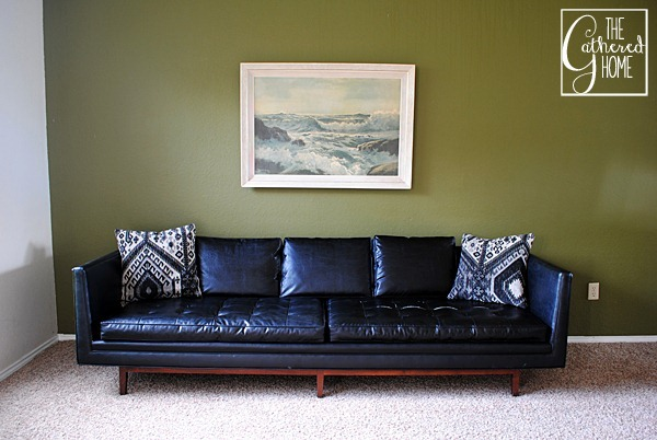 black mid century sofa 6