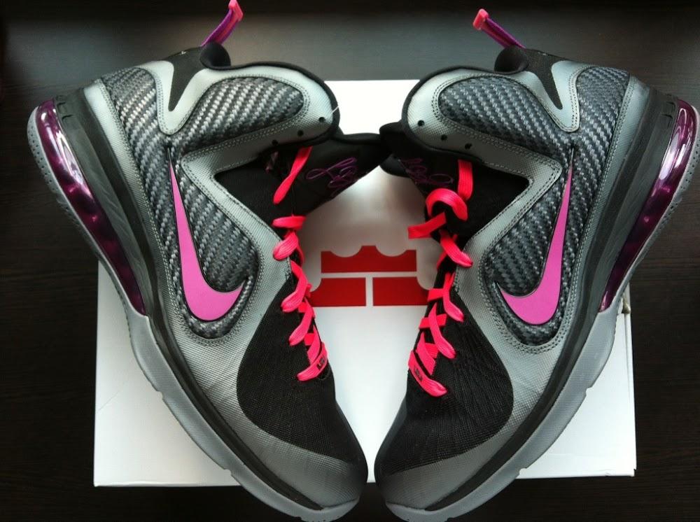 1dd992811d68 ... Cool Grey Vivid Grey-Black-Cherry. Nike LeBron 9 8220Miami Nights8221  Couple New Pics w Tee ...