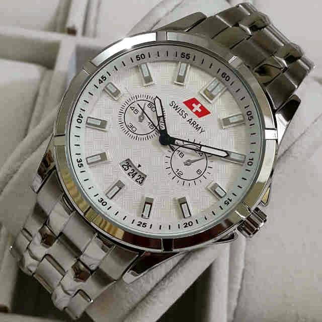 Jual jam tangan Swiss Army tgl silver steinless KW