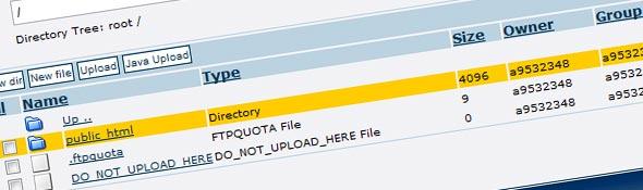 Gerenciador de arquivos net2ftp.