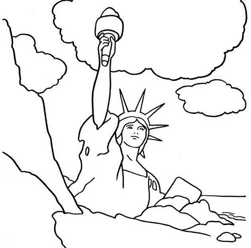 Dibujo Estatua De La Libertad