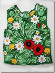 irish crochet poppy top front