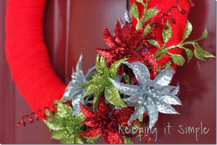 framed Christmas wreath (10)