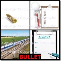 BULLET- 4 Pics 1 Word Answers 3 Letters