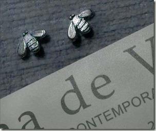 tiny bee studs bg