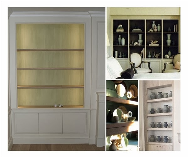 Decoration open cabinetry
