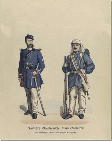 Officer and Soldier from the Brazilian Empire's Army Wikimedia Commons No Copyright