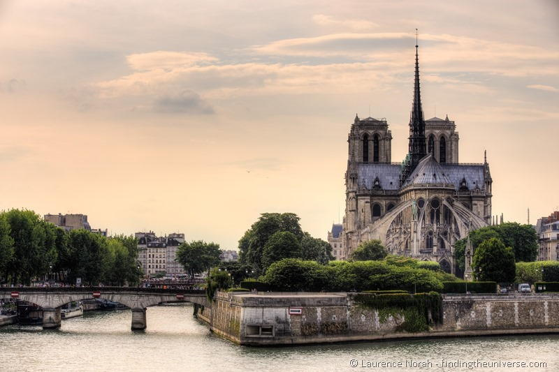 Notre Dame from behind