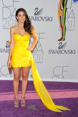 Emmanuelle Chriqui attends the 2011 CFDA Fashion Awards