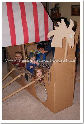 DIY Homeschool Vikings Ship