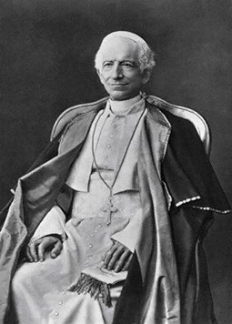 1878 --- Pope Leo XIII. Photograph made in 1878. --- Image by © Bettmann/CORBIS