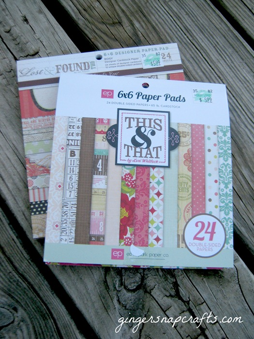 double sided scrapbook paper