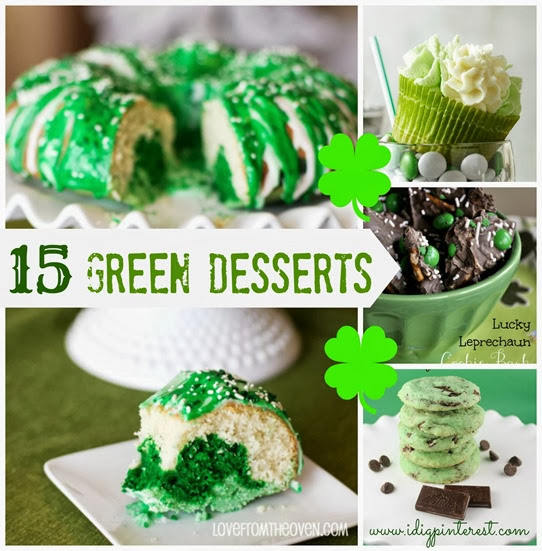 15 Green Desserts Collage