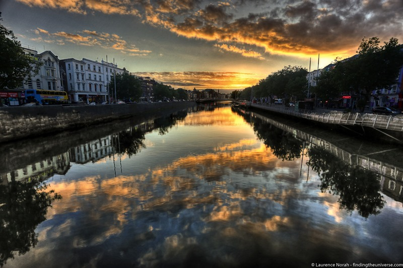 Sunset river Liffey - scaled