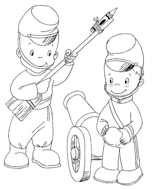 Dibujos De Soldados Para Pintar