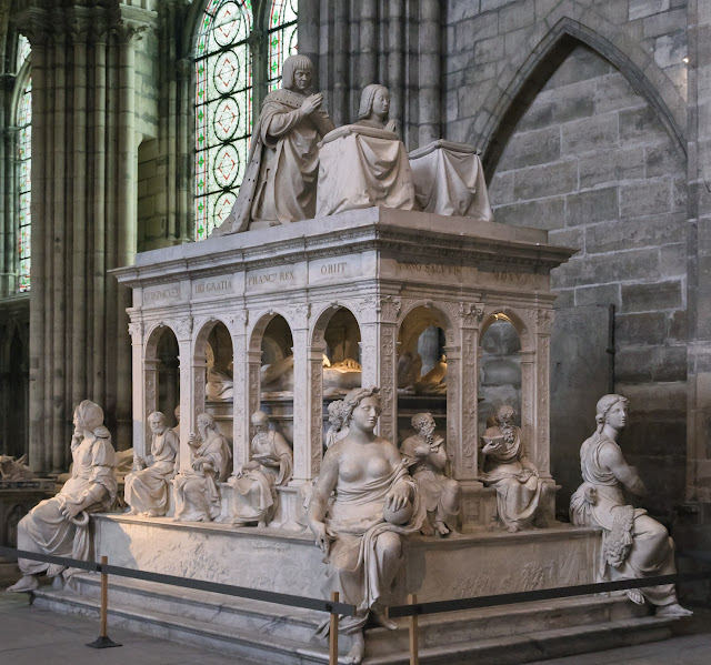 Tombeau de Louis XII et Anne de Bretagne - Basilique Saint-Denis - France