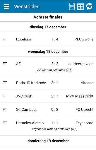 KNVB Beker Info