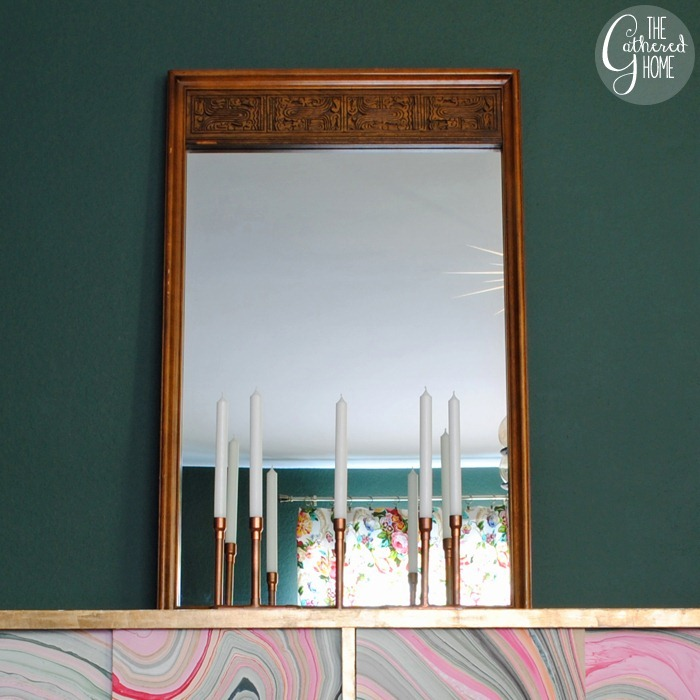 DIY Copper Candelabra | www.thegatheredhome.com #tutorial #copperpipe