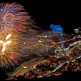 by Boris Buric - Abstract Fire & Fireworks ( Lighting, moods, mood lighting, , city at night, street at night, park at night, nightlife, night life, nighttime in the city, fire, night, flames )