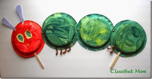 very hungry caterpillar plate craft