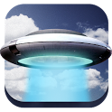 UFO in photo icon