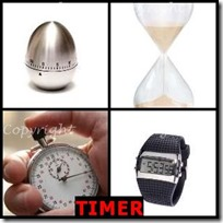 TIMER- 4 Pics 1 Word Answers 3 Letters