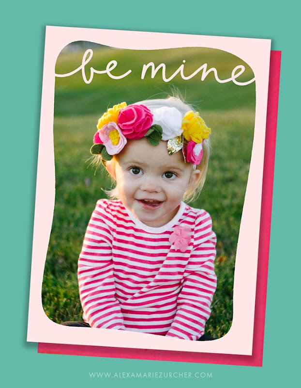 Be Mine valentines day card free template