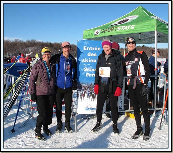 At the start of the Gatineau Loppet on 18/2/12