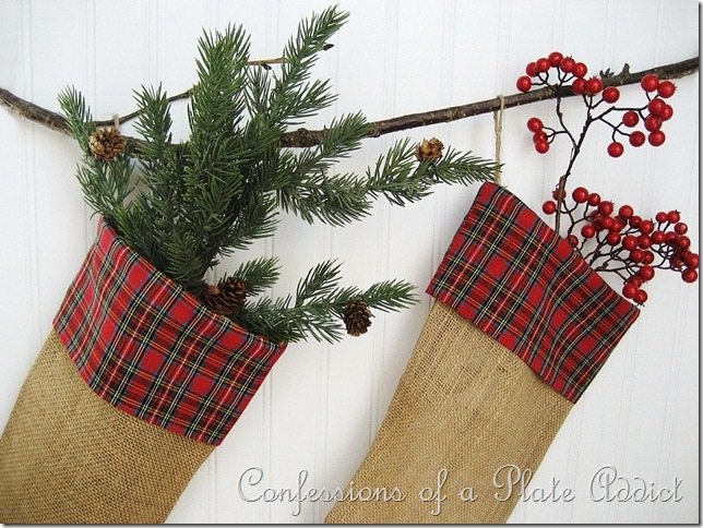 CONFESSIONS OF A PLATE ADDICT Burlap and Plaid Stockings