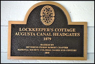01g - Savannah Rapids Park - Lock Keepers Cottage Sign