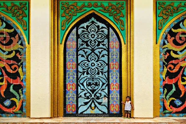 Mosaic Wall at the Far End of Manila's Mosque