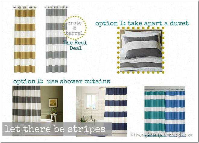 A Thoughtful Place: Options for Making Striped Drapes