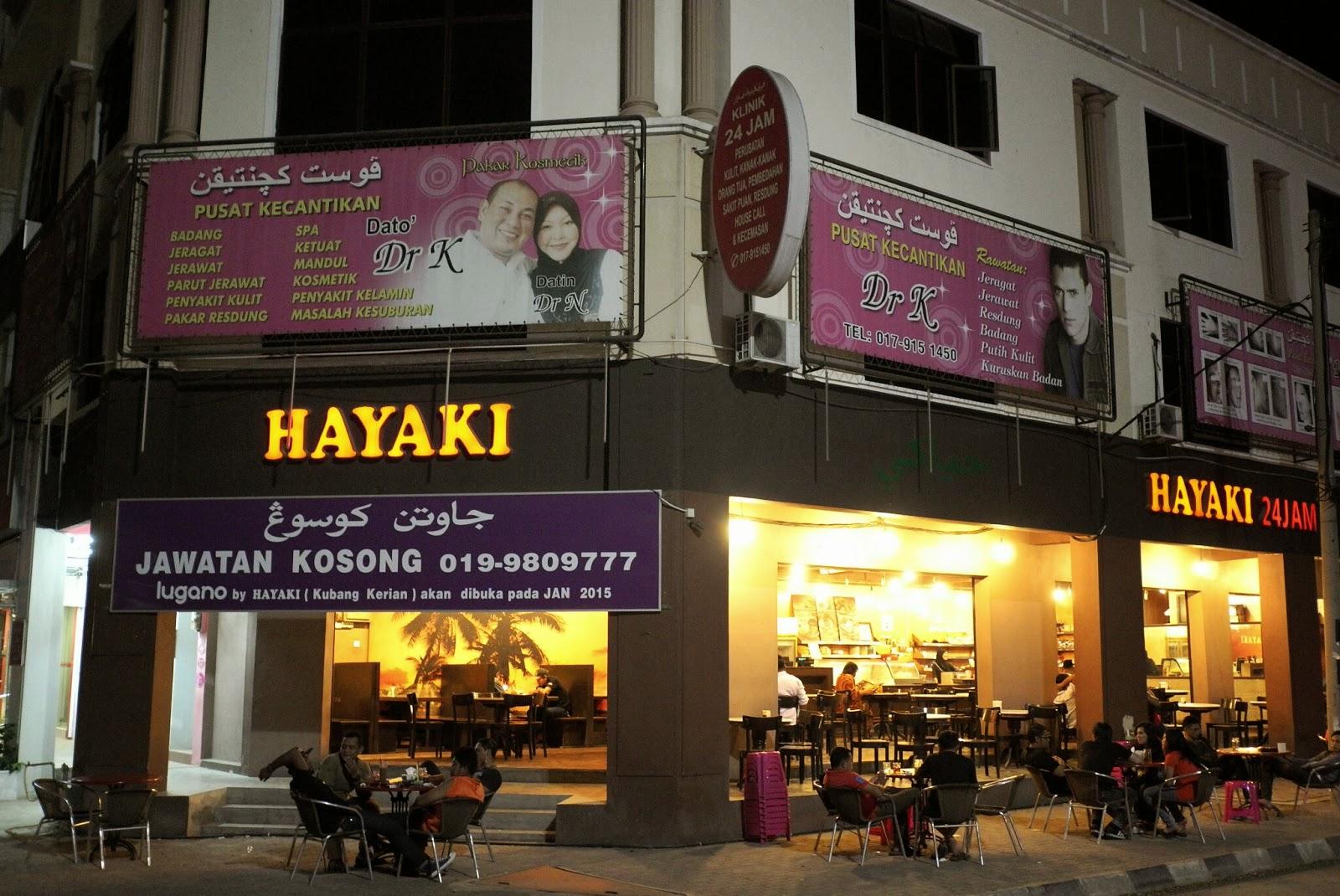 JE TunNel: No other Cafe beats HAYAKI in Kota Bharu!