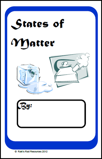 States of matter printable booklet for primary students - free download from Raki's Rad Resources.