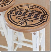 Colombian Coffee painted stools1