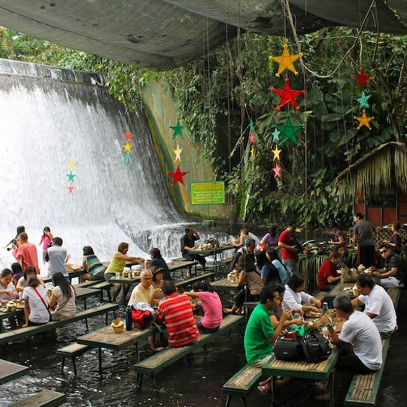 Waterfall Restaurant at Villa Escudero in Philippines