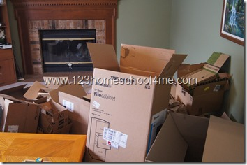 making a castle out of boxes