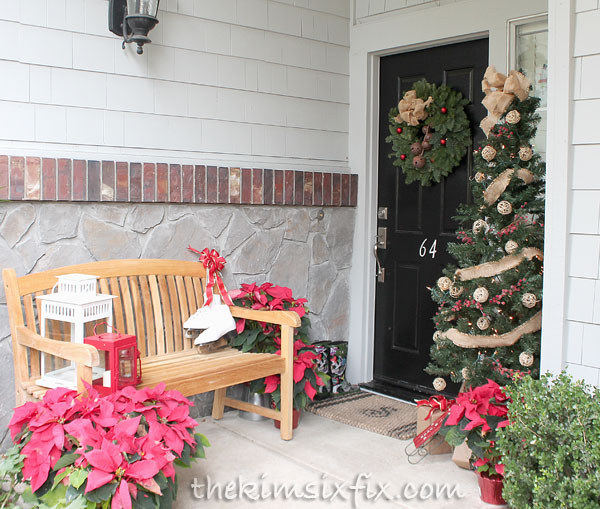 Front porch with bench