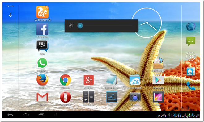 Menu Volume Pada Tablet Android Advan Vandroid T1J