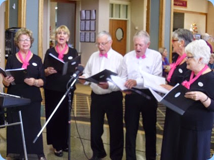 The Knightsbridge Warblers gave us a mini-concert.